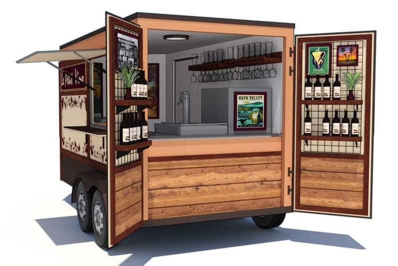 portable wine trailer