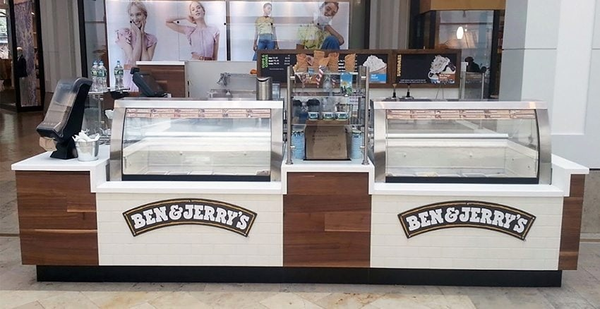 ben & jerry's ice cream kiosk