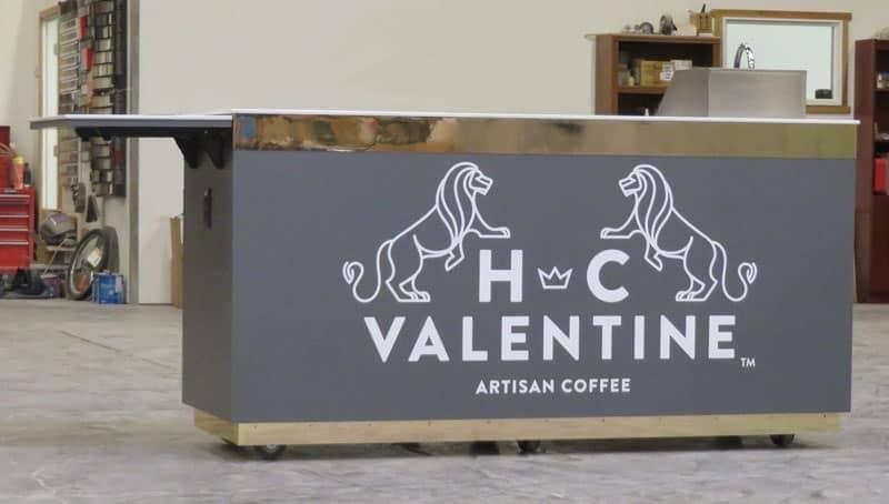 custom coffee espresso cart