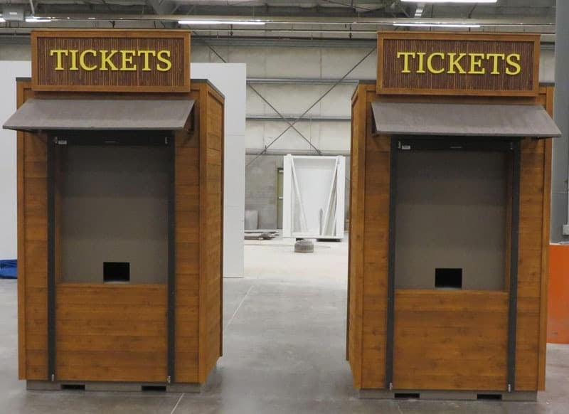 custom ticket booth
