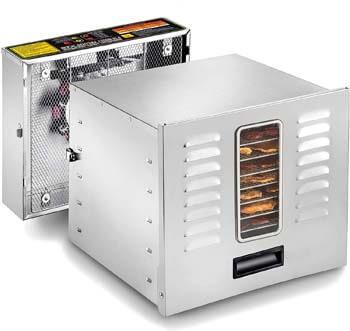 9. STX International STX-DEH-1200W-XLS Dehydra Commercial Grade Stainless Steel Digital Food Dehydrator