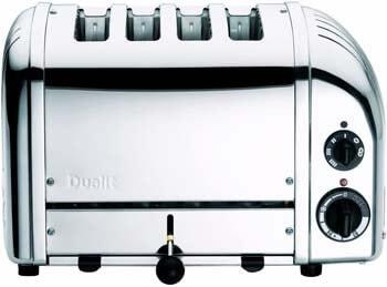 9. Dualit NewGen Polished Chrome 4 Slot Toaster, 4-Slice