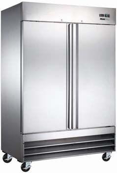 10. Peak Cold 2 Door Commercial Stainless Steel Freezer