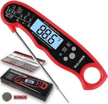 7. KULUNER Waterproof Digital Instant Read Meat Thermometer