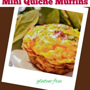 Gluten Free Mini Quiche Muffins