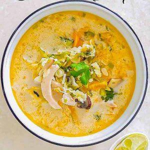Spicy Thai Chicken Coconut Soup