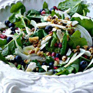 Deluxe Salad With Raspberry Vinaigrette