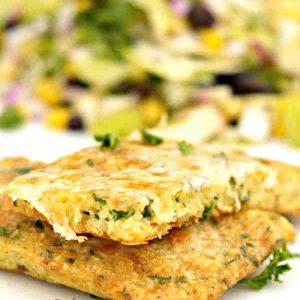 Gluten Free Quinoa Garlic Cheese Flatbread