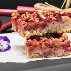 Gluten Free Rhubarb Strawberry Squares