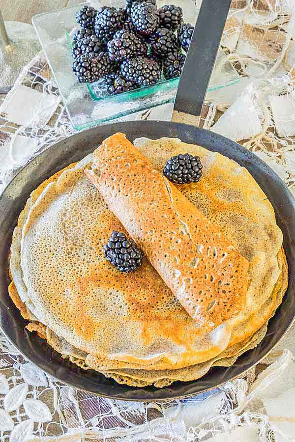 Gluten Free Easy Buckwheat Crepe Recipe