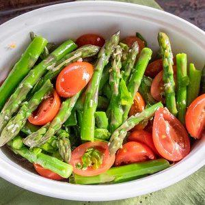 Asparagus Tomato and Basil Salad