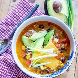 Fajita Chicken Soup (Gluten-Free)
