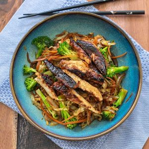 Warm Asian Chopped Chicken Salad