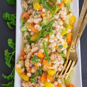 Instant Pot Warm White Bean Salad