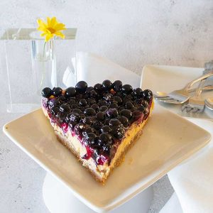 Gluten-Free 3 Layer Blueberry Key Lime Cake