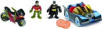 2. Fisher-Price Imaginext DC Super Friends, Batmobile & Cycle