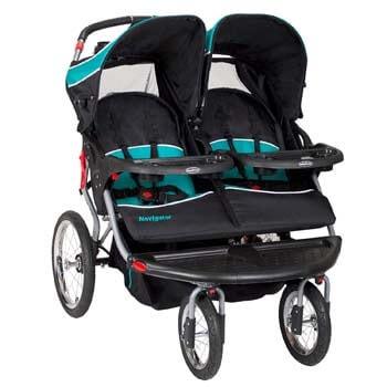 2. Baby Trend Navigator Double Jogger Stroller, Tropic