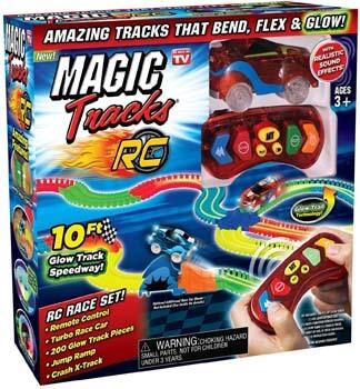 9. Ontel Magic Tracks RC - Remote Control Turbo Race Cars