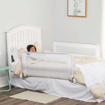 8. Regalo Swing Down Double Sided Bed Rail Guard, with Reinforced Anchor Safety System