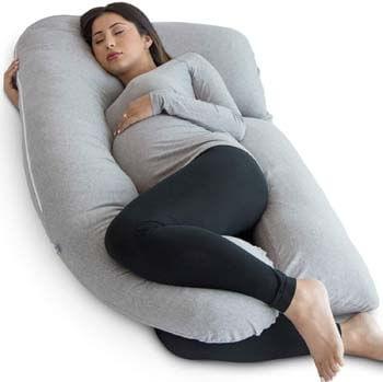 1. PharMeDoc Pregnancy Pillow, U-Shape Full Body Maternity Pillow - Support Detachable Extension