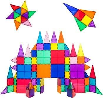 2. PicassoTiles 100 Piece Set 100pcs Magnet Building Tiles