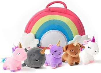 6. PixieCrush Unicorn Toys Stuffed Animal Gift Plush Set