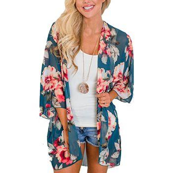 6. Relipop Beach Floral Kimono