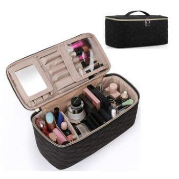 9. BAGSMART Makeup Bag Cosmetic Bag Large Toiletry Bag
