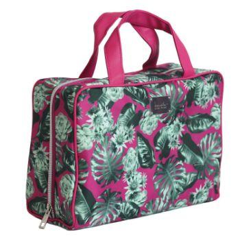 6. Nicole Miller Makeup Bag, Travel and Toiletry Bag