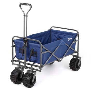 5: Sekey Folding Wagon Cart Collapsible Outdoor Utility Wagon Heavy Duty Beach Wagon