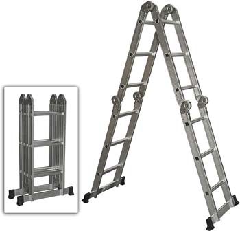 10. Best Choice Products Multi-purpose Aluminum Ladder Folding Step Ladder Extendable Heavy Duty