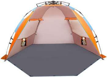 4. Oileus X-Large 4 Person Beach Tent Sun Shelter