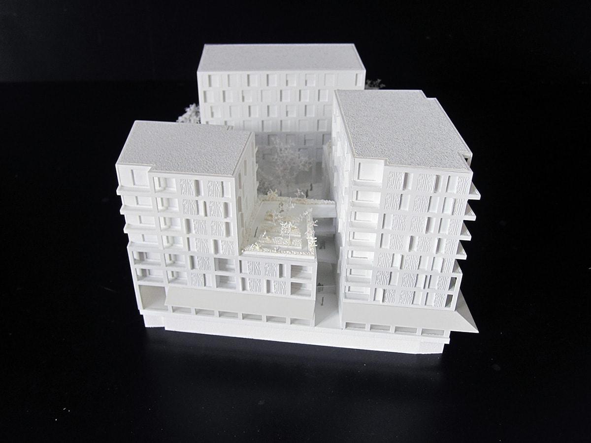 maquette de logements familiaux et étudiants par Fabienne Gérin Jean