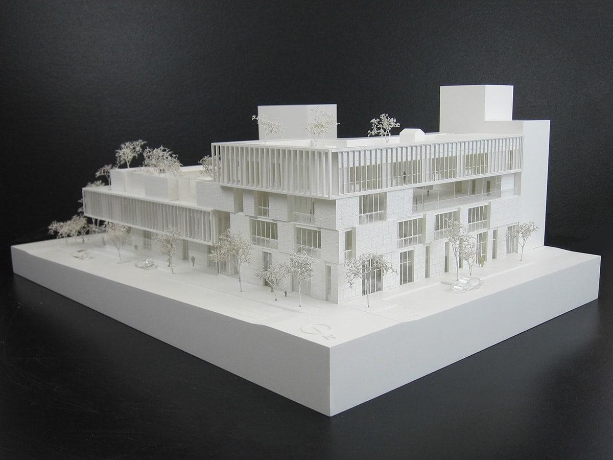Maquette blanche de concours pour l'école les Fabriques à Marseille par l'agence Brenac & Gonzalez et Associés