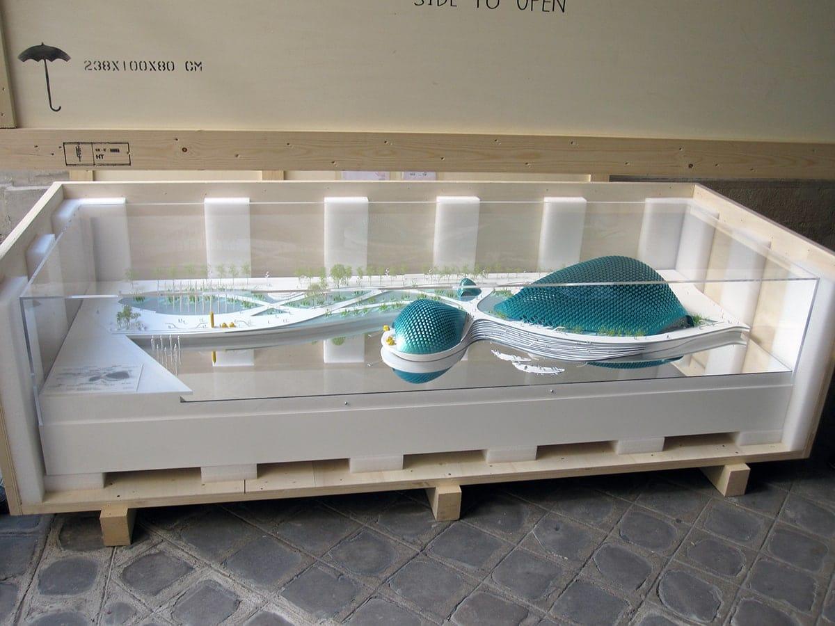 caisse bois de transport longue distance pour maquette architecture