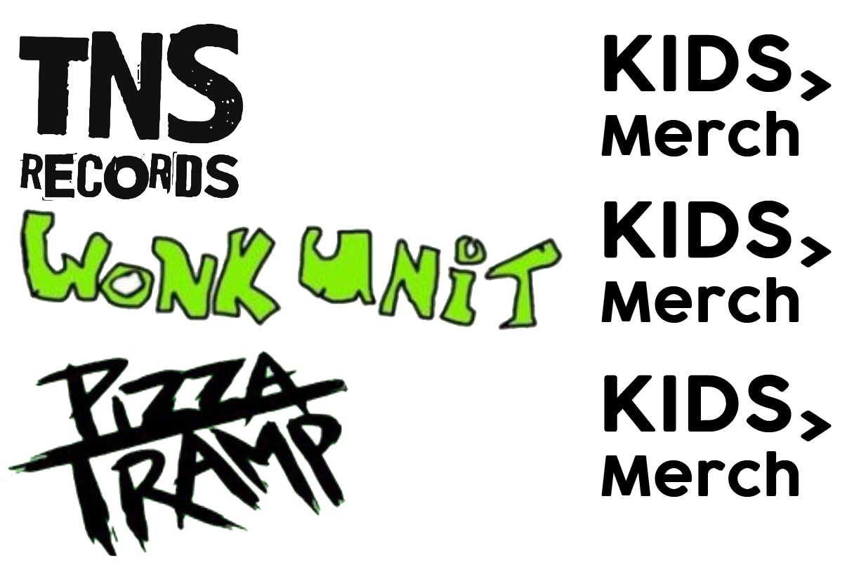 Wonk Unit, TNSrecords and Pizza Tramp & Baby Moo's Baby & Kids Band T-Shirts & Merchandise