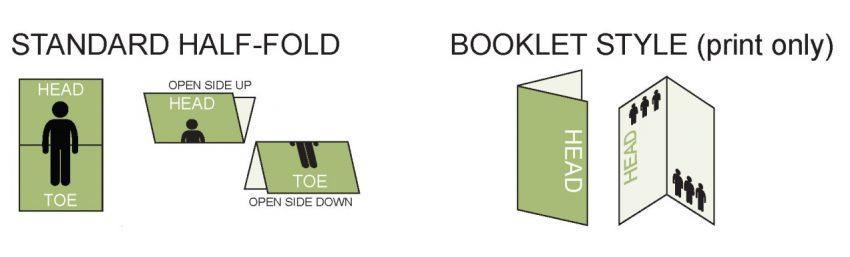 half-fold brochure layout diagram