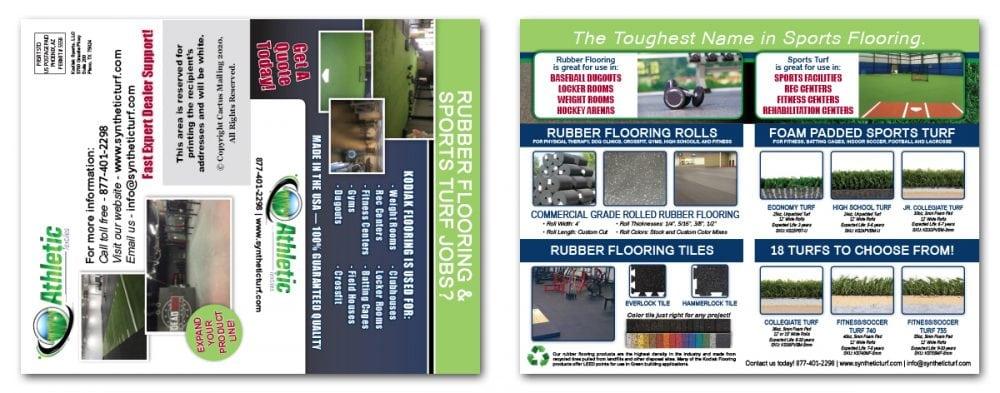 Brochure Marketing for Sports Turf Company
