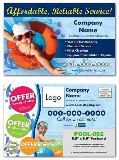 pool service postcards