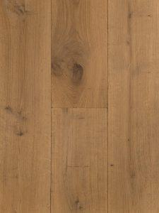 Verouderde houten vloer zonder velling en een natuurlijke uitstraling.