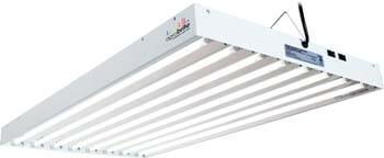 9: Hydrofarm Agrobrite FLT48 T5 Fluorescent, 4 Foot, 8 Tube Grow Light System, 4-Feet, White