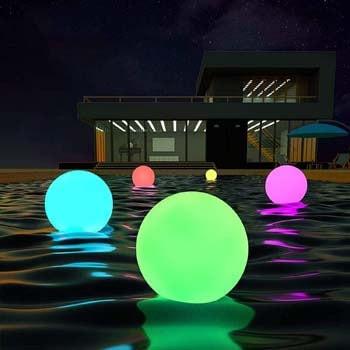 5: LOFTEK LED Dimmable Large Floating Pool Lights