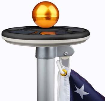 10: Sunnytech 2020 3rd Generation Black - Solar Power Flag Pole
