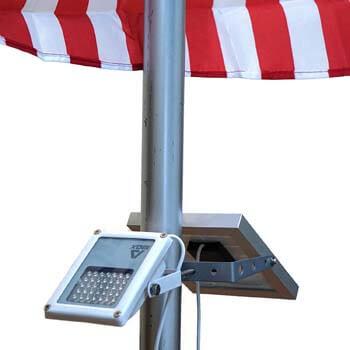 9: Alpha 180X Flag Pole Light (Warm White LED)