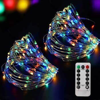 7: Bright Zeal 66 Ft 200 LED Multi-colored Fairy Lights