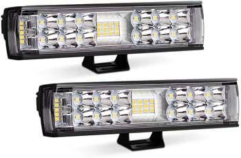 6: AutoFeel LED Light Bar 2PCS 7 Inch 60W LED Pods Flood Spot Beam Combo Off Road Driving Fog Light