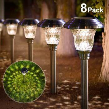 1: BEAU JARDIN Solar Lights Bright Pathway Outdoor