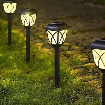 6: Solpex Solar Pathway Lights Outdoor, LED Solar Garden Lights