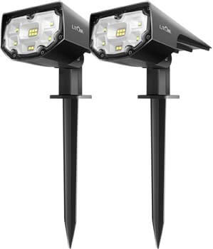 1: LITOM 12 LEDs Solar Landscape Spotlights