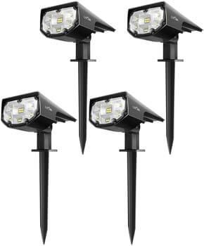 4: LITOM 12 LEDs Solar Landscape Spotlights